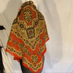 Vintage 80's Cambridge spirit ornate wool scarf